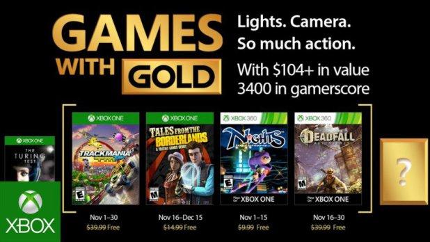 قائمة ألعاب Xbox Live Gold المجانية لشهر نوفمبر 2017