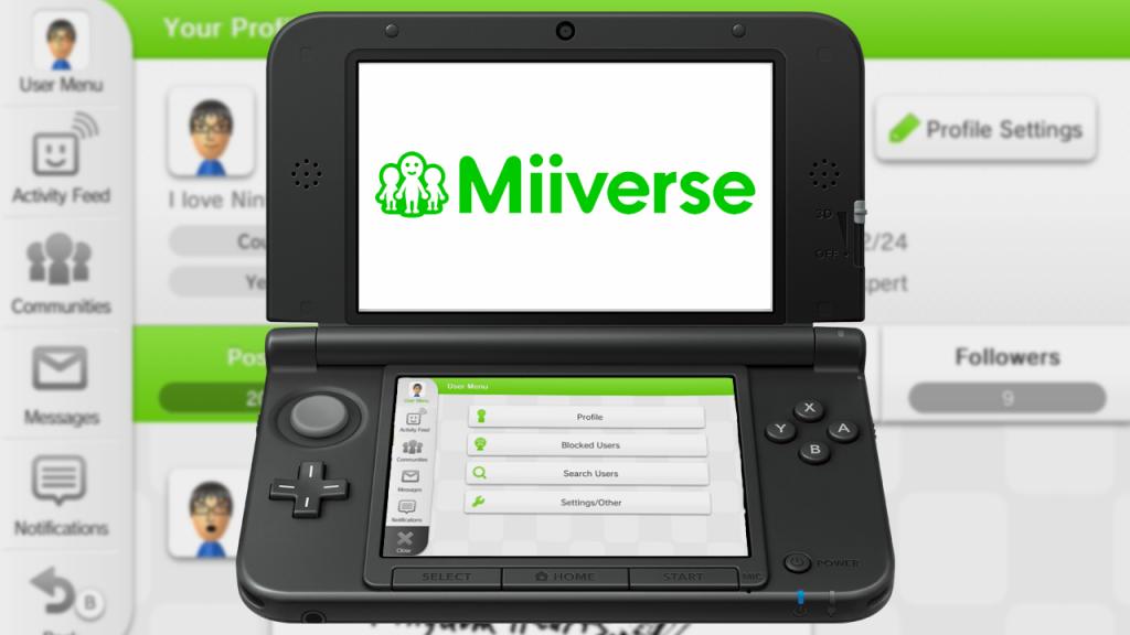 تم إغلاق خدمة الـMiiverse على الـWii U والـ3DS