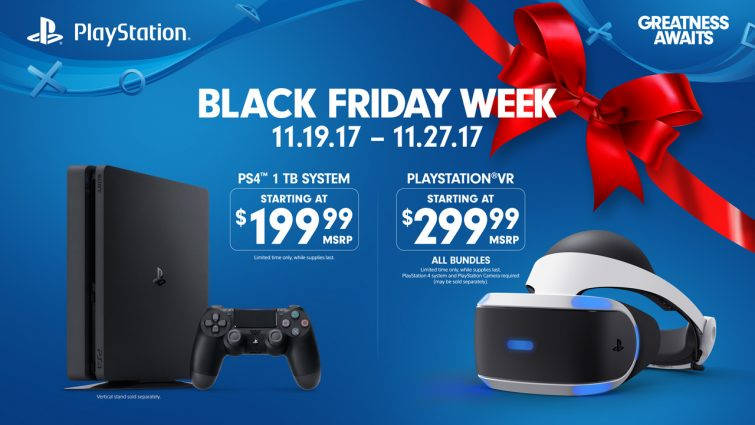 عروض قوية لجهاز PS4 و نظارة Playstation VR في الجمعة الأسود