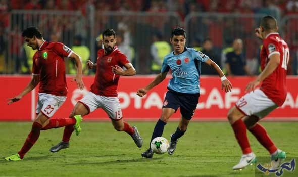 نادي الأهلي يتعادل مع نظيره الوداد المغربي في ملعب الجيش في برج العرب