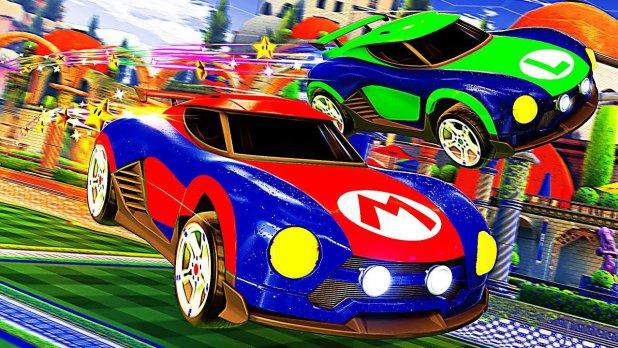 مباريات Rocket League انطلقت على سويتش مع سيارات مستوحاة من ألعاب نينتندو