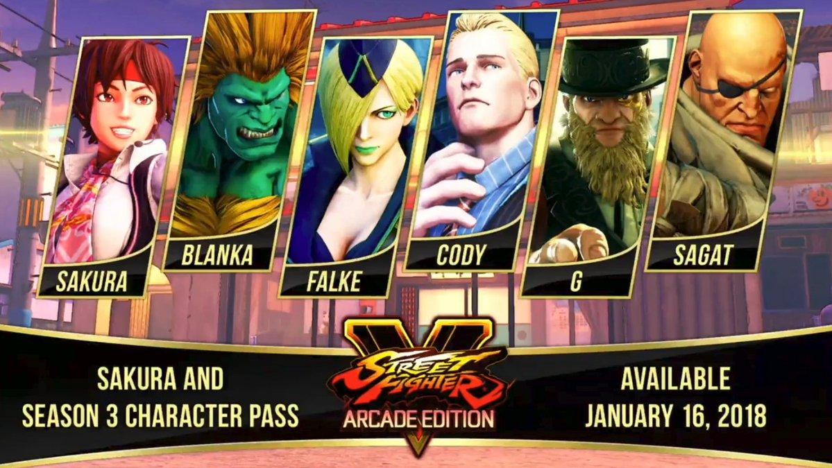 Blanka و Sagat والمزيد من الشخصيات بالموسم الثالث من لعبة Street Fighter V مع عرض الإفتتاحيه