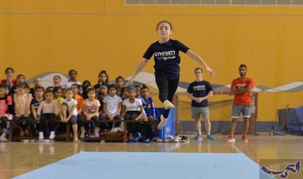 """""""البريطانية"""" تسيطر على الجمباز بالأولمبياد المدرسي في البحرين"""