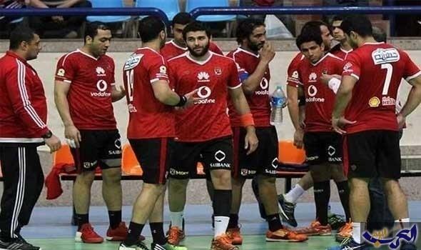 """""""رجال يد الأهلي"""" يفوز على سموحة في نهائيات الدوري المصري"""