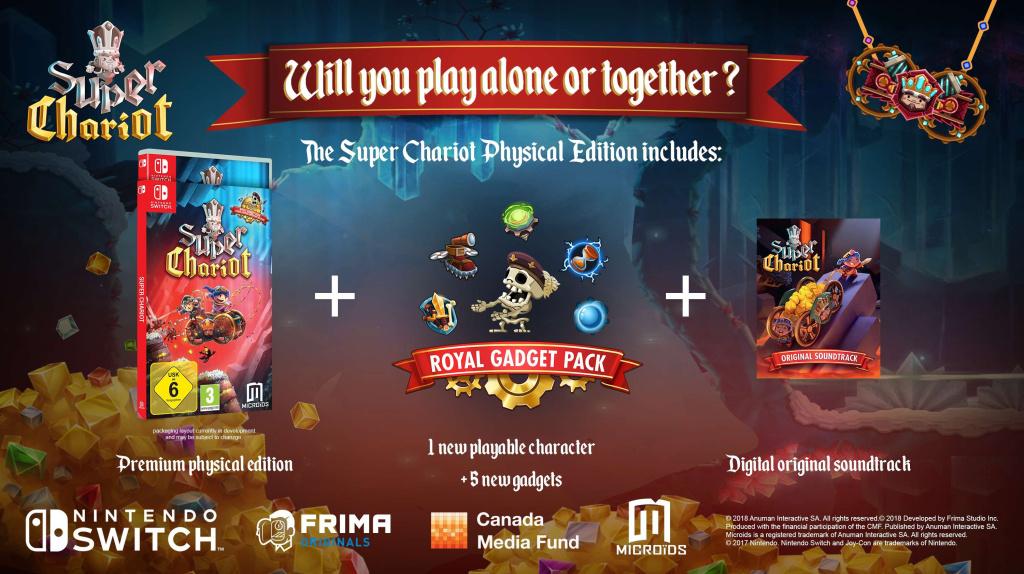لعبة المنصات المستقلة Super Chariot تصدر لجهاز Switch في مايو
