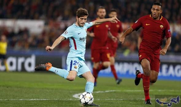 روما يقصى برشلونة من ربع نهائي دوري أبطال أوروبا