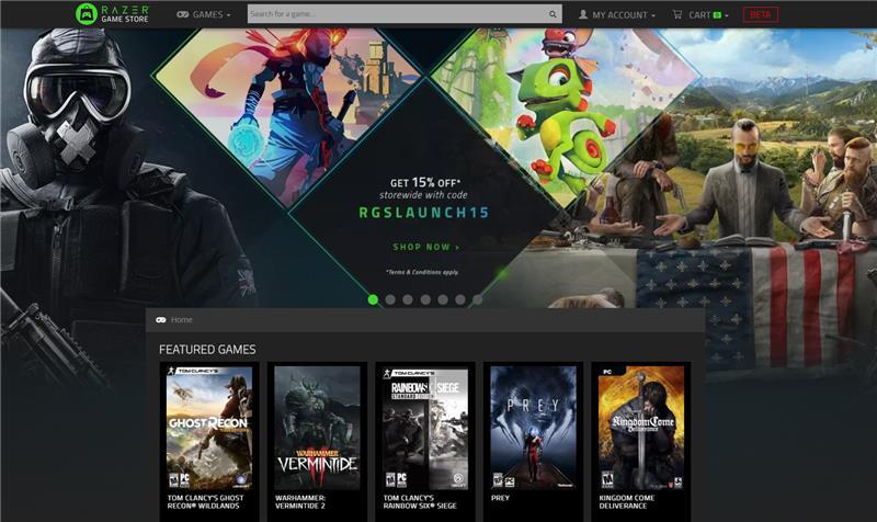 الإعلان عن متجر Razer الإلكتروني للألعاب