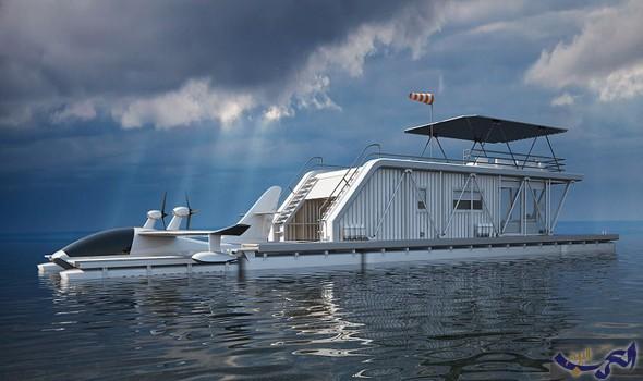 خطط لبناء منزل عائم فخم يتضمن مكانًا لوقوف الطائرات