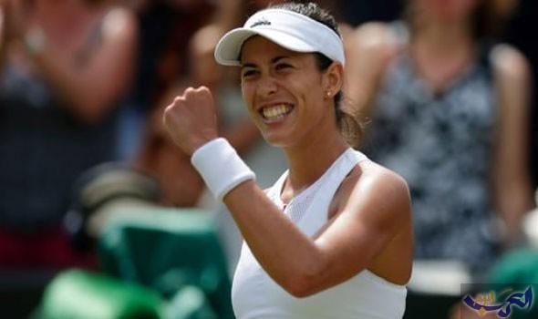 لاعبة التنس الإسبانية جاربيني موجوروزا تؤكّد أن الانتصارات أهم من الابتسامات